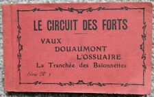 More details for 1918 circuit des forts verdun world war 20 postcard booklet france carte postale
