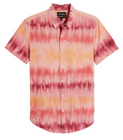 BONOBOS Tie Dye Shirt Hawaiian Style Button Beach Party Cotton Mens LARGE NEW