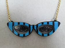 NWT Auth Betsey Johnson Betsey Plexi Cat Eye Sunglasses Pendant Chain Necklace