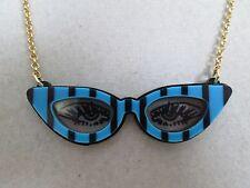 NWT Auth Betsey Johnson Betsey Plexi Cat Eye Sunglasses Pendant Chain Necklace