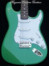 Fender Strat+Warmoth Opt+SRV Pickups+Tequila Sunrise Green+ 22 Fret Custom Neck
