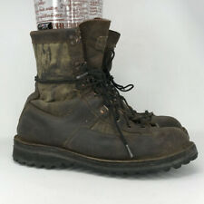 Cabelas Mens Danner Brown Leather Combat Boots Lace Up High Top Size 11