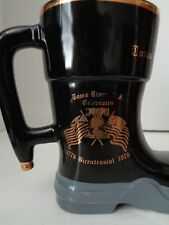 Vtg Tom's River New Jersey Fire Dept Fire Company 2 Bicentennial Boot Mug 1976
