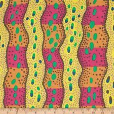 Kaffe Fassett Collective Brandon Mably Victoria PWBM046-Yellow Cotton Fabric BTY