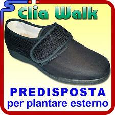 SCARPA INVERNALE EALSTICIZZATA CLIA WALK COLORE NERO CHIUSURA VELCRO PREDISPOSTA
