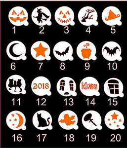 Halloween Stencils from Mylar 60mm or 70mm - suitable for Crafts