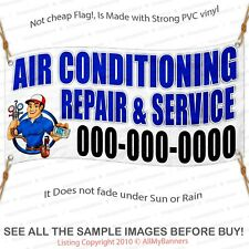 Air conditioning service banner sign large size outdoors custom text fix