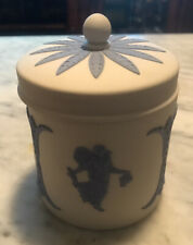Wedgwood Jasperware Reverse Tabacco Jar Dancing Hours White