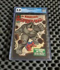 Amazing Spider-man #41 CGC 5.0 1966 1st Appearance Rhino Silver Age Marvel Key🔥