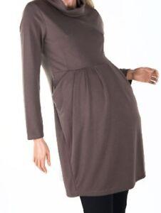 MATERNITY TUNIC DRESS TURTLE NECK POCKETS M L XL XXL XXXL 12 14 16 18 20COLOURS