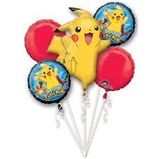 "Pokemon ""Pikachu""  Mylar Foil Balloon Bouquet Happy Birthday Party Favor"