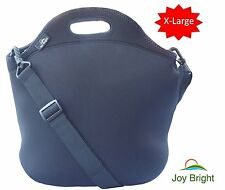 EXTRA LARGE Neoprene Lunch Bag - Best Lunch Tote With Heavy Duty Zipper and - To