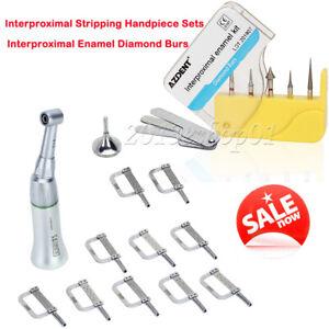 4:1 Interproximal Stripping Contra Angle Handpiece IPR System + Dental Burs