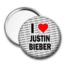 I Love Justin Bieber Pocket / Handbag Mirror Birthday - Gift - Stocking Filler