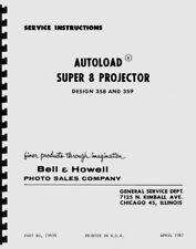 Bell & Howell 358, 359 Autoload Super 8 Projector Service Repair Manual Reprint