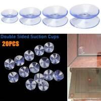 10*35mm Double Sided Suction Cups Clear Plastic Rubber Window Suckers Pads #M2R