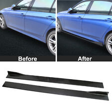 2M/78.7''Carbon Fiber Look Side Skirts Body Kit Rocker Panel Extension Universal
