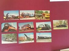 Lot 10 vintage Train Postcards 200. 400. 201.Western Maryland, Canadian Pacific