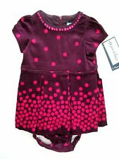 42585702c77 Hartstrings Infant Baby Girls 6-9M 2-Piece Purple   Pink Dot Woven Dress
