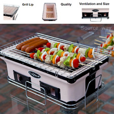 NEW Large Portable Yakatori Japanese Compact Charcoal BBQ Table Grill 4 Tailgate