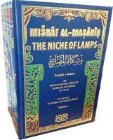 Mishkat-ul-Masabih: The Niche of Lamps - 4 Vols. Arabic / English - HB -
