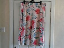 M & S  COLLECTION CLASSIC PINK FLORAL SKIRT - SIZE 22 - BNWT - 241