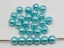 100 Pcs 10mm Plastic Faux Pearl Round Beads Sky Blue Imitation Pearl
