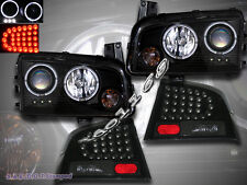 06-08 DODGE CHARGER 2 HALO LED PROJECTOR HEADLIGHTS + LED BLACK TAIL LIGHTS