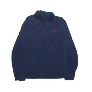POLO RALPH LAUREN Blue Regular Hooded Shell Jacket Boys L