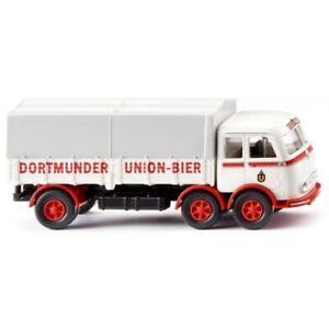 WIKING voiture miniature Mercedes-Benz LP 333 camion 1:87 blanc/rouge