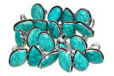 New Handmade Pcs Lot Turquoise Gemstone 925 Sterling Solid Silver Rings Jewelry