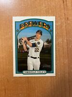 2021 Topps Heritage - Christian Yelich - #251 French Text Variation SP BREWERS
