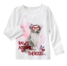 NWT Gymboree Best In Show Paws Smell Roses Dog Girls Shirt Size 12