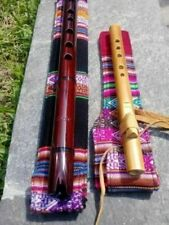 2-NATIVE AMERICAN STYLE PRO- QUENA S & N AMERICAN FLUTES G W-BAG SEE VIDEO NEW