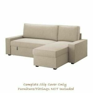 VILASUND COVER for Sofa-Bed w/ Chaise Longue - Hillared Beige: 103.539.49 |IKEA