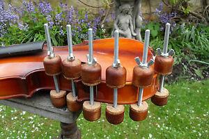 Luthier Violin or Uke repair spool clamps ,set of 6 ,,60mm depth clamp (NEW)