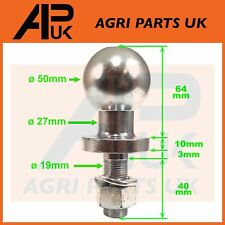 "50mm Bolt on Ball Trailer Towing Hitch 350kg ATV Quad 3/4"" 19mm Shank Dia Thread"