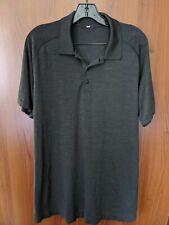 Mens Lululemon Polo shirt L Large Black Gray