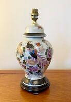 VINTAGE CHINESE FURNITURE PORCELAIN  TABLE LAMP ORIENTAL LAMPS 17 INS TALL
