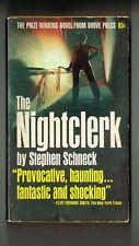 THE NIGHTCLERK S Schneck GROVE PRESS 1966 1st PB PRINT VG UNDERGROUND RARE
