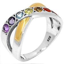 Healing Chakra 925 Sterling Silver Ring Jewelry s.7 CP225-7