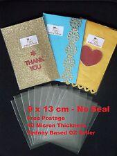 50 Clear Cellophane Bags - 9 cm X 13 cm - 40 micron - Non Seal - Non Adhesive