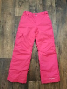 Columbia Bugaboo Omni Heat Tech Pink Ski Snow Pants Youth Sz L ( I4-16)