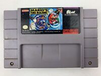 Mario's Time Machine SNES Super Nintendo Game With Cartridge Protector Tested