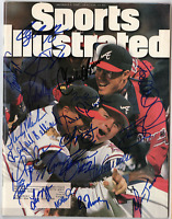 1995 Atlanta Braves team signed autographed Sports Illustrated magazine! RARE!