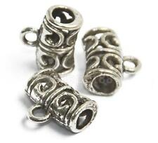 50x Antique Tibetan Silver Alloy Carved Bail Beads Jewelry Making Supplies