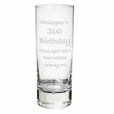 Personalised Engraved Shot Glass 18th 21st 40th Birthday Gift Idea for Women Men
