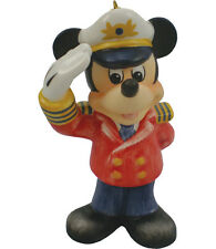 Goebel Disney Captain Mickey Mouse Ornament Nib Made in Germany Porcelain