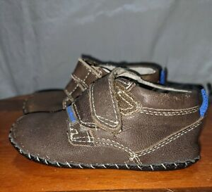 Pedipeds Baby Boy Shoes, Brown, Soft Sole, Size 18-24 months