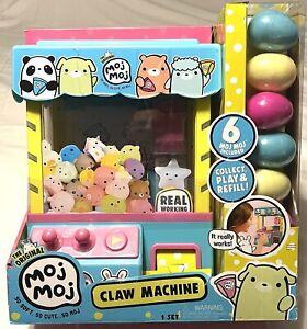 The Original Moj Moj Claw Machine with 6 Squishies in Eggs Playset - NIB